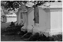 History Dutch cemetery, Bukit St Paul. Malacca City, Malaysia ( black and white)