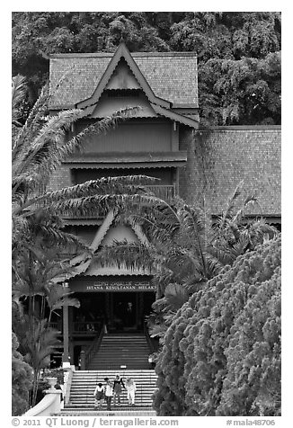 Sultanate Palace, St Paul Hill. Malacca City, Malaysia (black and white)