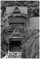 Sultanate Palace, St Paul Hill. Malacca City, Malaysia ( black and white)
