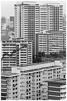 Residential appartment buildings. Singapore (black and white)