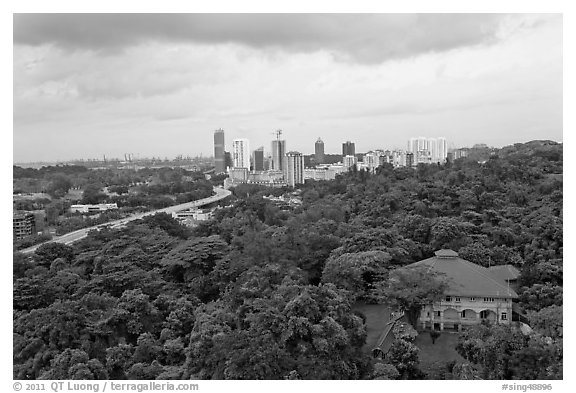 Mount Faber Park. Singapore (black and white)