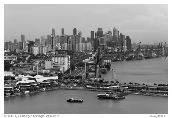 Harbor and Central Business District. Singapore