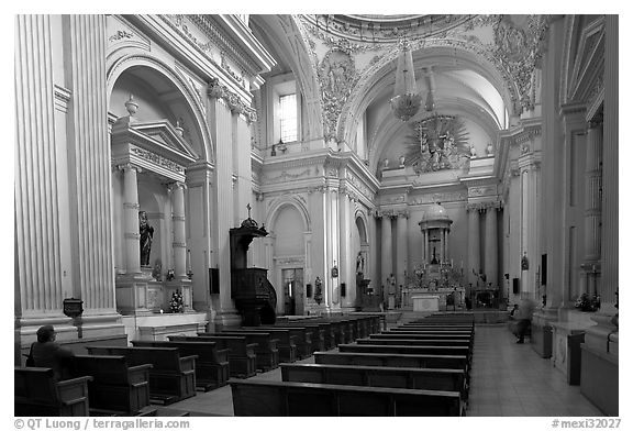Interior of the Cathedral. Guadalajara, Jalisco, Mexico (black and white)