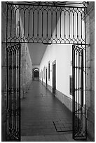 Corridor in Hospicios de Cabanas. Guadalajara, Jalisco, Mexico ( black and white)