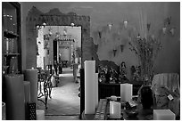 Art gallery, Tlaquepaque. Jalisco, Mexico (black and white)