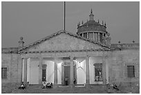 Hospicio Cabanas at night. Guadalajara, Jalisco, Mexico ( black and white)
