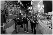 Arts and craft night market, Tlaquepaque. Jalisco, Mexico (black and white)