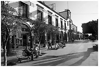 Main plaza (Parian), Tlaquepaque. Jalisco, Mexico (black and white)