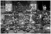 Glass spheres, Tonala. Jalisco, Mexico ( black and white)
