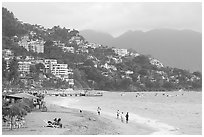 Playa Olas Altas, Puerto Vallarta, Jalisco. Jalisco, Mexico ( black and white)