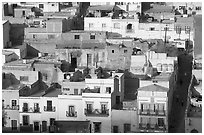 Houses and Cajaon de Garcia Rojas. Zacatecas, Mexico (black and white)