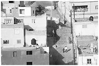 Cajaon de Garcia Rojas seen from above. Zacatecas, Mexico (black and white)