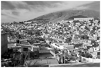Panoramic view of the town. Zacatecas, Mexico ( black and white)