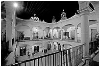 Inside courtyard of the Palacio de Gobernio. Zacatecas, Mexico (black and white)
