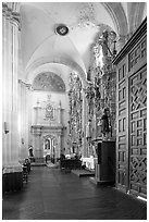 Side aisle of Church Santo Domingo. Zacatecas, Mexico (black and white)