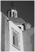 Walls and dome of Templo de San Roque, early morning. Guanajuato, Mexico ( black and white)