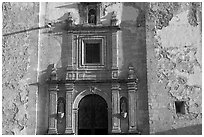 Facade of San Roque church, early morning. Guanajuato, Mexico (black and white)