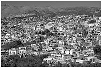 Panoramic view of the city, mid-day. Guanajuato, Mexico ( black and white)