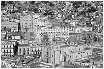 Basilic and University in the center of the town. Guanajuato, Mexico ( black and white)