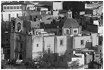 Church San Roque, early morning. Guanajuato, Mexico ( black and white)