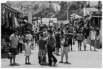 Flee market, La Bufadora. Baja California, Mexico (black and white)