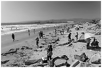 Pacific beach, Ensenada. Baja California, Mexico (black and white)