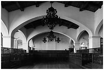 Cathedral Ballroom, Riviera Del Pacifico, Ensenada. Baja California, Mexico (black and white)