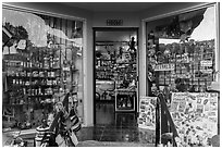 Souvenir shop, Ensenada. Baja California, Mexico (black and white)