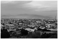 Ensenada from above at sunset. Baja California, Mexico (black and white)