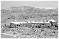 Nabi Musa Monastery in the Judean Desert. West Bank, Occupied Territories (Israel) ( black and white)