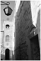 Church, Safed (Tzfat). Israel (black and white)