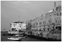 Waterfront along old city, Jaffa, Tel-Aviv. Israel ( black and white)