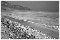 Shores of the Dead Sea. Israel ( black and white)