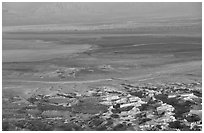 South End of the Dead Sea seen from Masada. Israel ( black and white)
