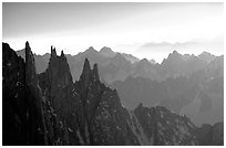 Aiguilles du Diable. Alps, France (black and white)