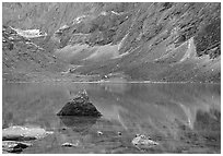 Lake II in Aquarius Valley near Arrigetch Peaks. Gates of the Arctic National Park ( black and white)