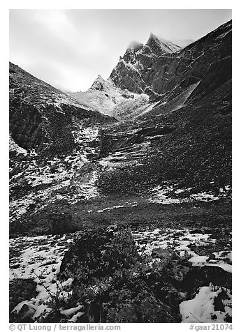Arrigetch peaks. Gates of the Arctic National Park (black and white)