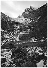 Arrigetch peaks. Gates of the Arctic National Park ( black and white)