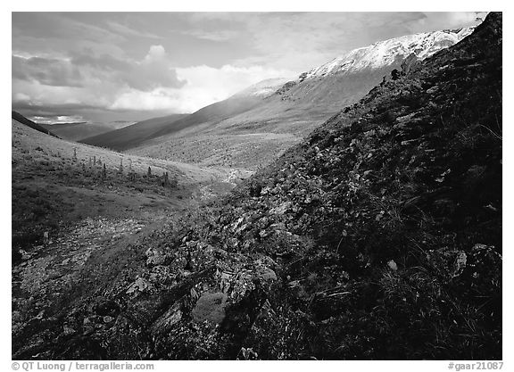 Arrigetch Valley. Gates of the Arctic National Park (black and white)