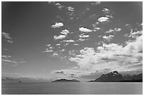 Drake Island and Francis Island. Glacier Bay National Park ( black and white)