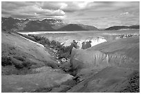 Lethe river, Valley of Ten Thousand smokes. Katmai National Park ( black and white)