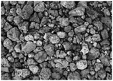 Detail of pumice, Valley of Ten Thousand smokes. Katmai National Park, Alaska, USA. (black and white)