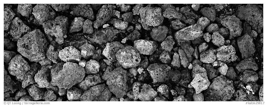 Pumice close-up, Valley of Ten Thousand Smoke. Katmai National Park (black and white)