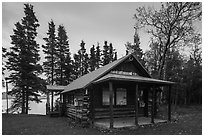 Brooks Camp Visitor Center. Katmai National Park ( black and white)