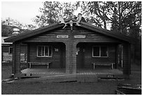 Brooks Lodge dinning hall. Katmai National Park ( black and white)