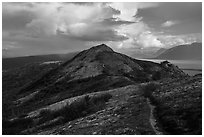 Dumpling Mountain Trail. Katmai National Park ( black and white)