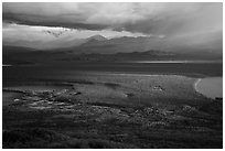 The entire Brooks River from above. Katmai National Park ( black and white)