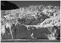 Front of Aialik Glacier. Kenai Fjords National Park ( black and white)