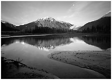Resurrection River and Exit Glacier, early morning. Kenai Fjords  National Park ( black and white)