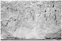 Face of Northwestern Glacier, Northwestern Lagoon. Kenai Fjords National Park, Alaska, USA. (black and white)